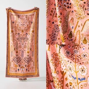 Anthropologie Camille Velour Beach Blanket Towel
